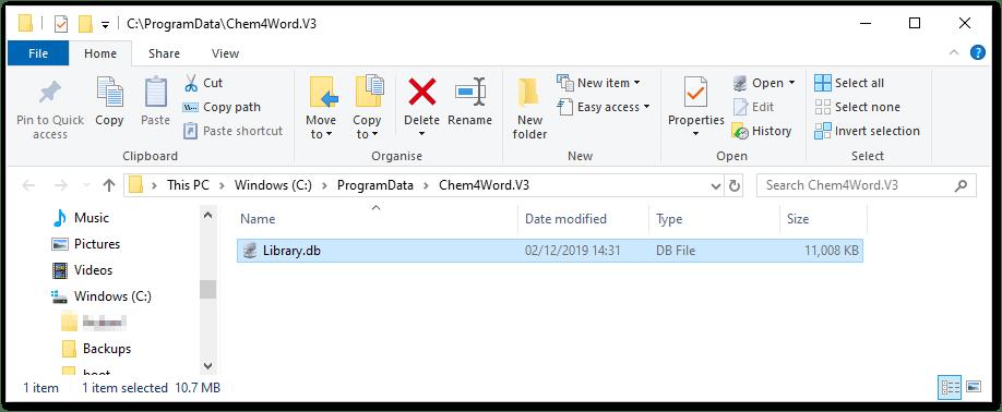 Choose a folder
